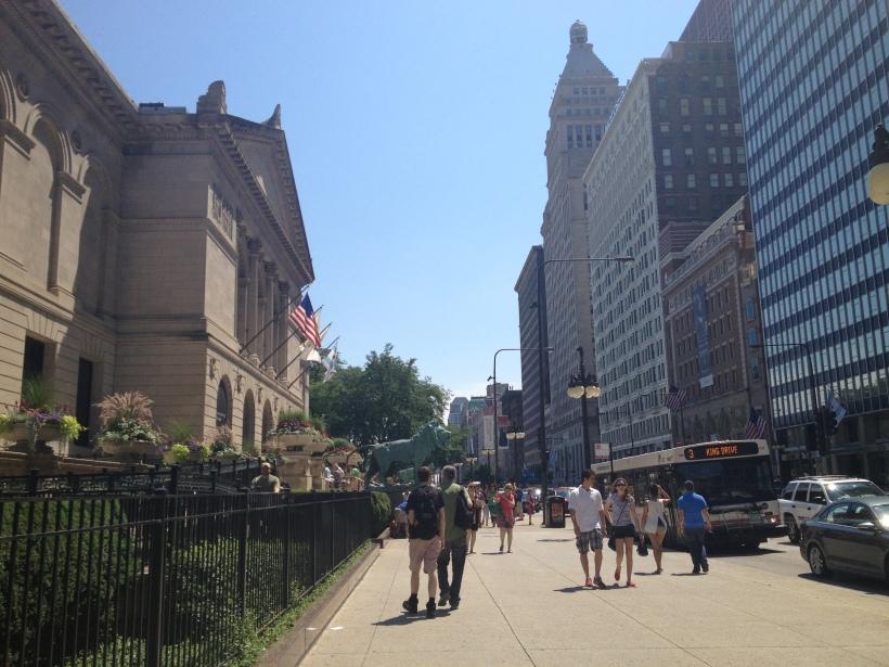 Walking toward the Field Museum