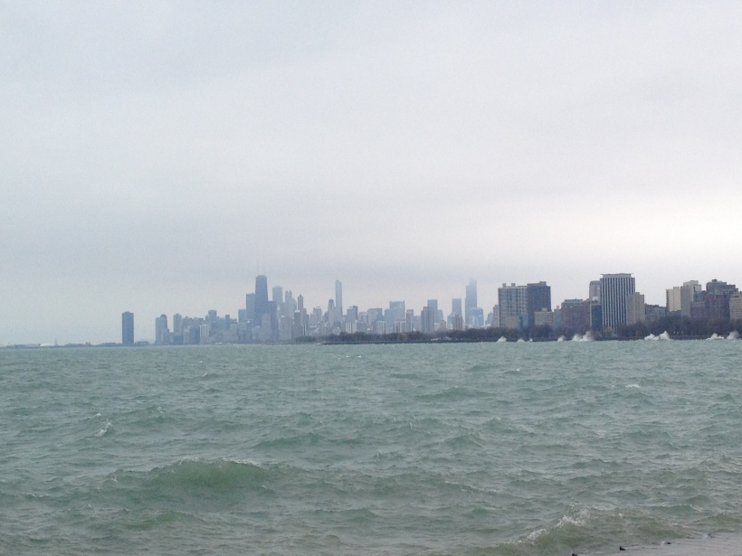 Chicago waterfront cloudy