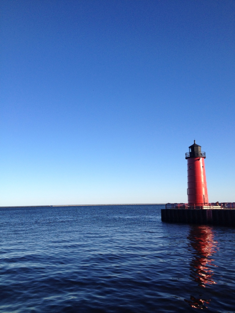 Lighthouse on Lake Michigan