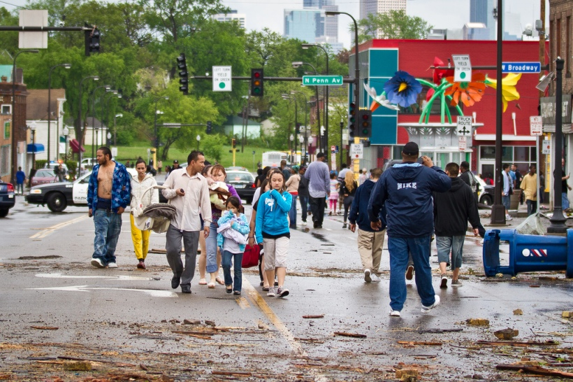 North Minneapolis in 2011, just after a massive tornado hit the neighborhood