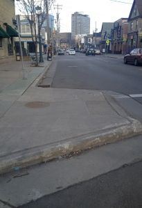 Curb bump out brady street